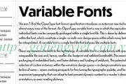 font biến thể: variable font