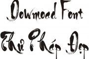 Khai xuân bằng font chữ thư pháp