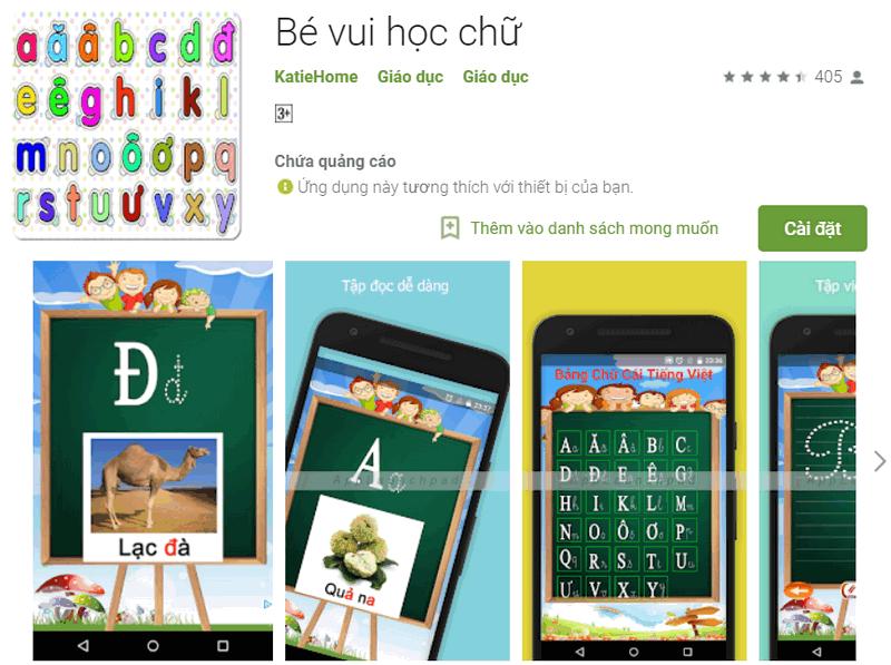 game Bảng chữ cái tiếng Việt