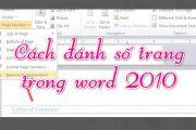 Đánh dấu trang trong word