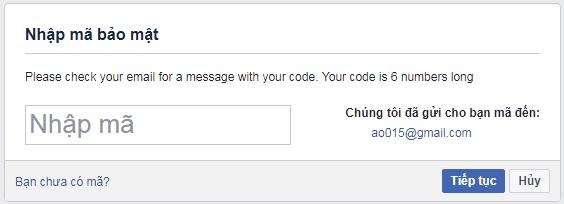 Lấy lại mật khẩu facebook bằng email và số điện thoại