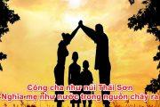 Công cha như núi Thái Sơn/Nghĩa mẹ như nước trong nguồn chảy ra